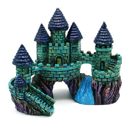 Retro European Style Castle Aquarium Decoration Vintage Resin Crafts Ornaments For The Aquarium Decor Fit Fish Tank