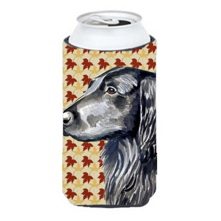 Flat Coated Retriever Fall Leaves Portrait Tall Boy   Hugger - image 1 de 1