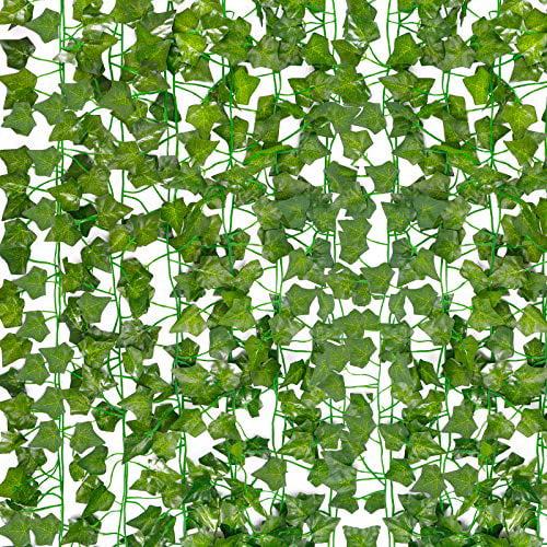 Hatoku 18 Pack Fake Vines For Room Decor Fake Ivy Leaves Garland Greenery Hanging Plants For Bedroom Aesthetic Decor Wedding Wall Decor 126 Feet Walmart Com Walmart Com