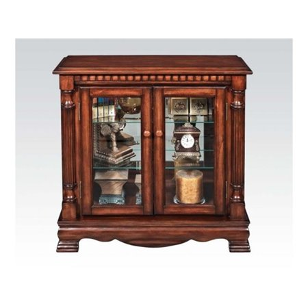Acme Furniture 91086 Gilby 2 Door Curio Cabinet With Pilasters