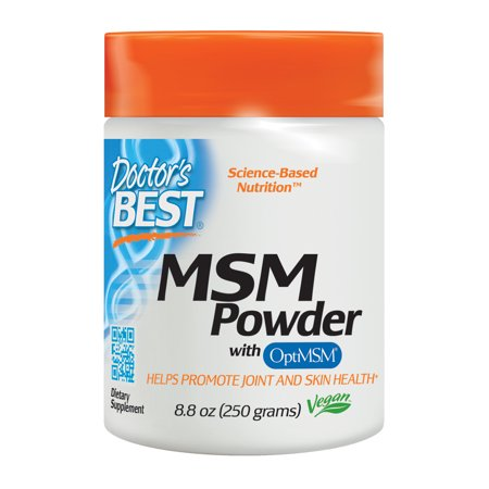 Doctor's Best MSM Powder with OptiMSM, Non-GMO, Vegan, Gluten Free, Soy Free, 250