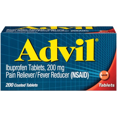UPC 305730154758 product image for Advil Coated Tablets Pain Reliever and Fever Reducer, Ibuprofen 200mg, 200 Count | upcitemdb.com