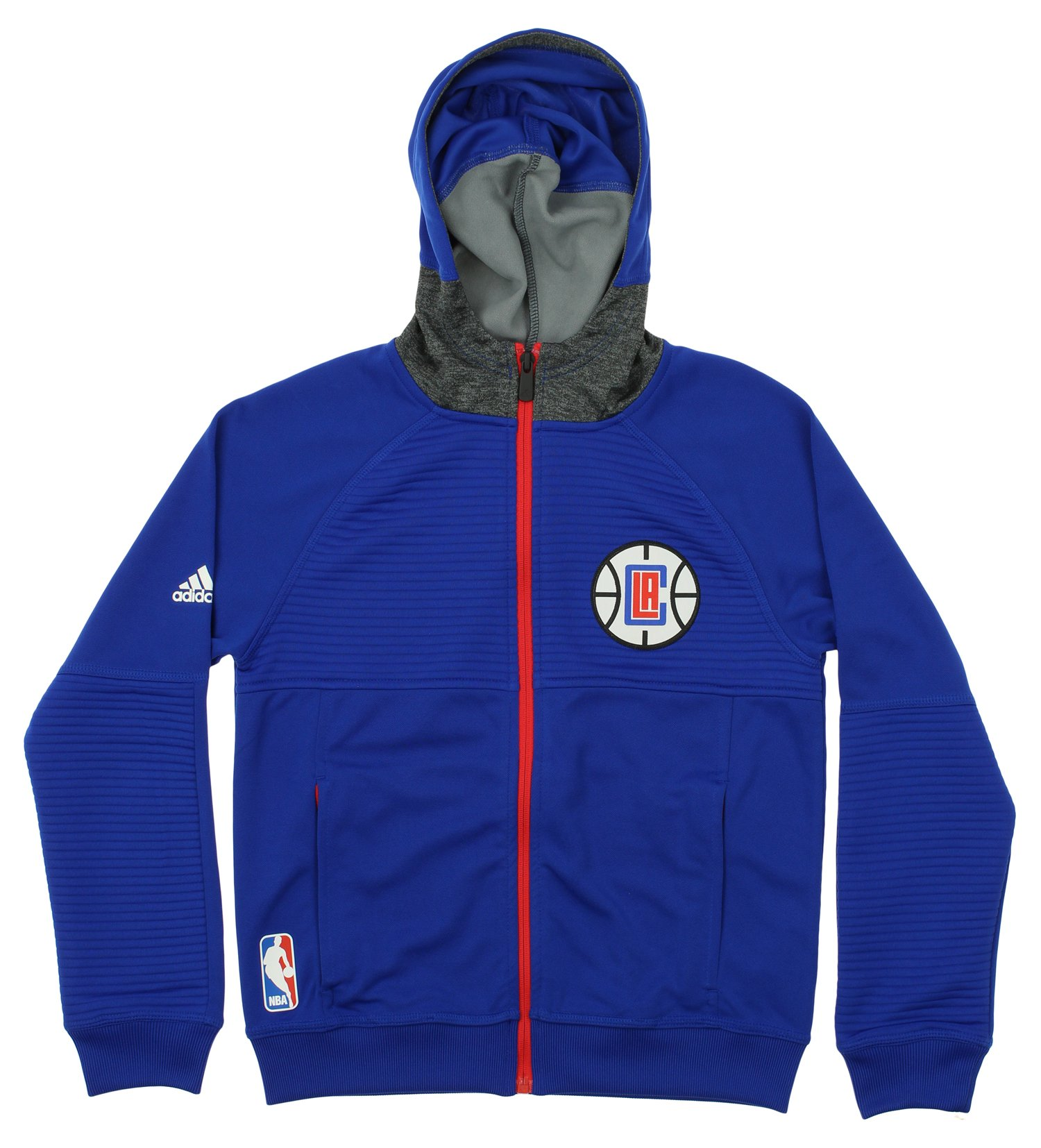 Adidas NBA Youth Los Angeles Clippers Pregame Full-zip Hoodie, Blue