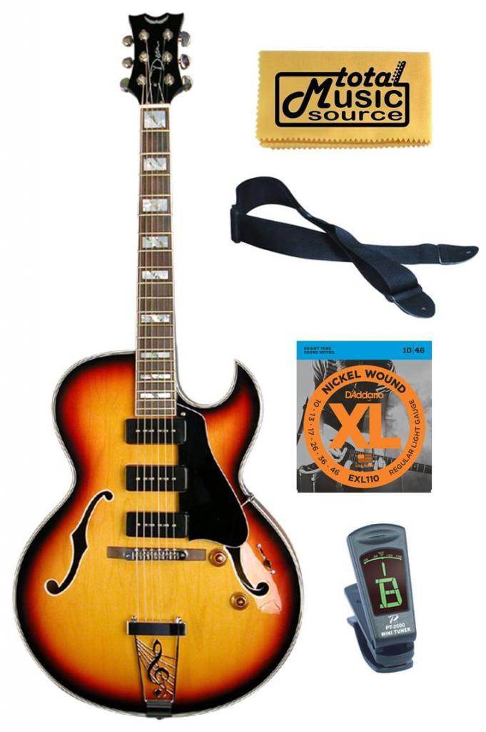 Dean Sunburst Palomino Electric Guitar, 3 P-90 Pickups FREE Strings Tuner Strap ,PALOMINO... by Dean