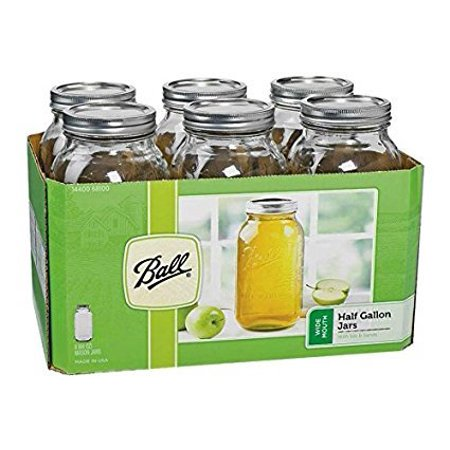 Ball 68100 Half Gallon Wide Mouth Canning Jars 6 Count (5)](Wide Mouth Mason)