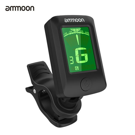 ammoon AT-07 Digital Electronic Clip-On Tuner LCD Screen for Guitar Chromatic Bass Ukulele C/ D Violin ()