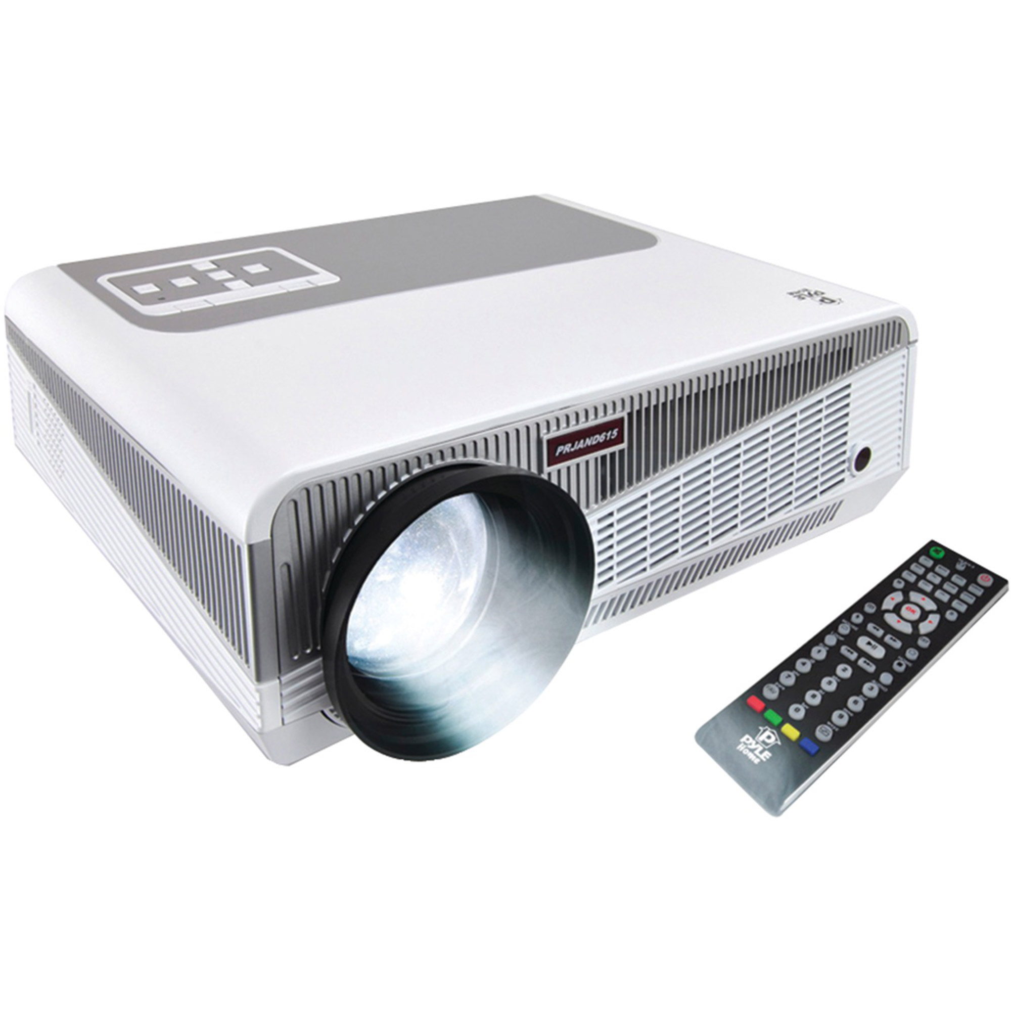 Pyle PRJAND615 HD Android 1080p Smart Projector with WiFi and Blu-ray Disc Support