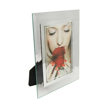 Glass Picture Frame (3.5 X 5) Mirrored Edge