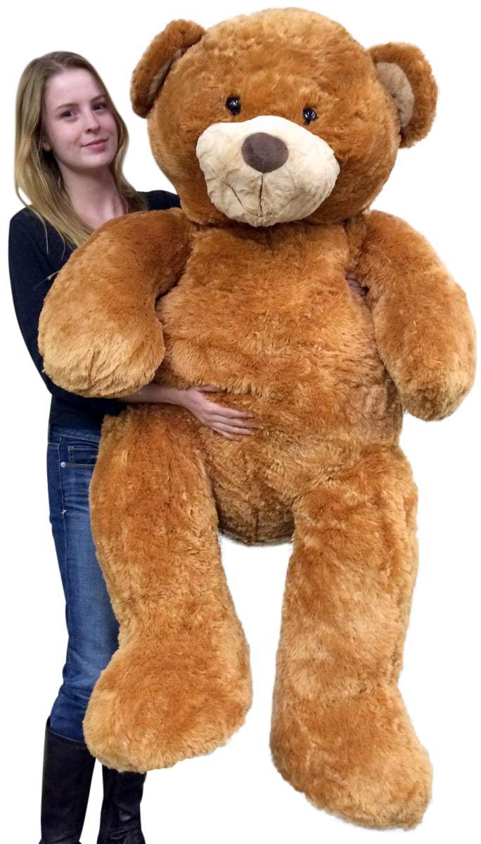 Giant 5 Foot Teddy Bear Big Soft 60 Inch Plush Animal Honey Brown Color by BigPlush