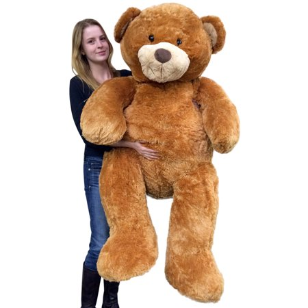 Giant Teddy Bear 5 Feet Tall Superior Quality Big Soft Teddybear Brown 60 Inches