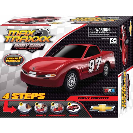 Skullduggery Max Traxxx Body Shop Corvette Casting Kit Walmart Com