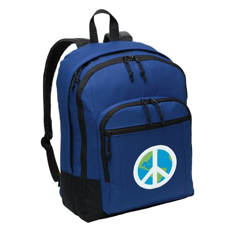 World Peace Backpack BEST MEDIUM Peace Sign Backpack School (Best School Bag Brands In The World)