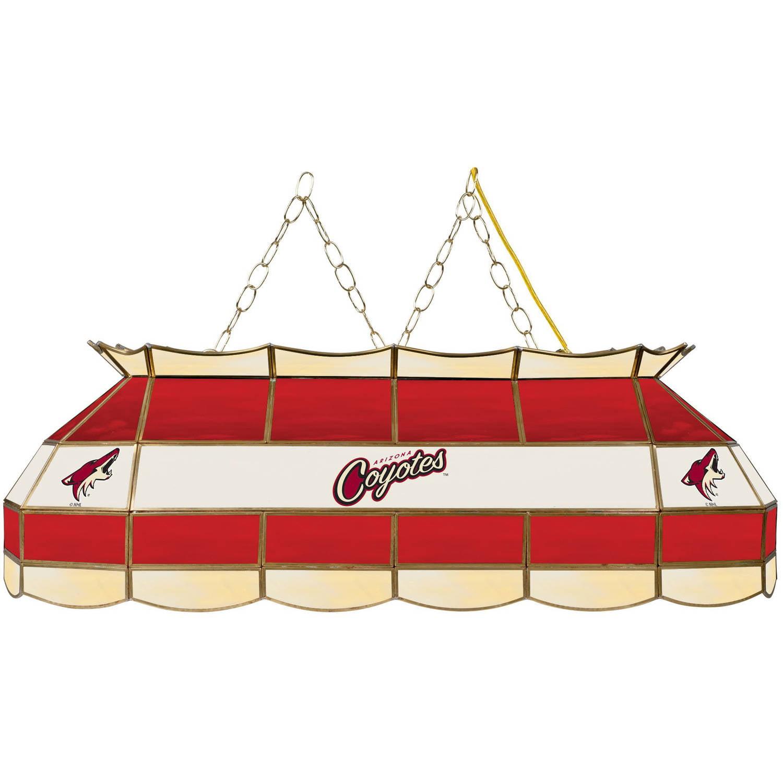 """NHL Handmade Tiffany Style Lamp, 40"""", Arizona Coyotes"""