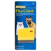 Four Paws Flea Comb for Cats and Dogs Palm Flea Comb