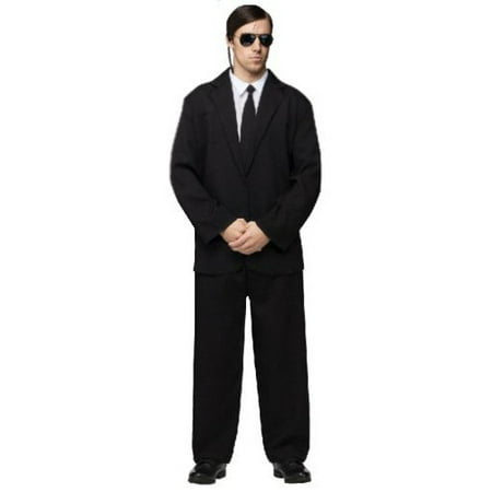 Black Suit Adult Halloween Costume - One Size - Black And White Movie Halloween Costume