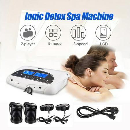 HD LCD Ionic Detox Ion Foot Bath Spa Health Machine With Cleanse Fir Belt (Best Foot Spa Machine)