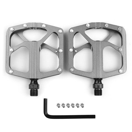 Lightweight Bike Pedals Alloy Platform Pedals Three Bearing MTB Road Bike Cycling Pedals Cr-Mo Steel Axle - image 6 of 7
