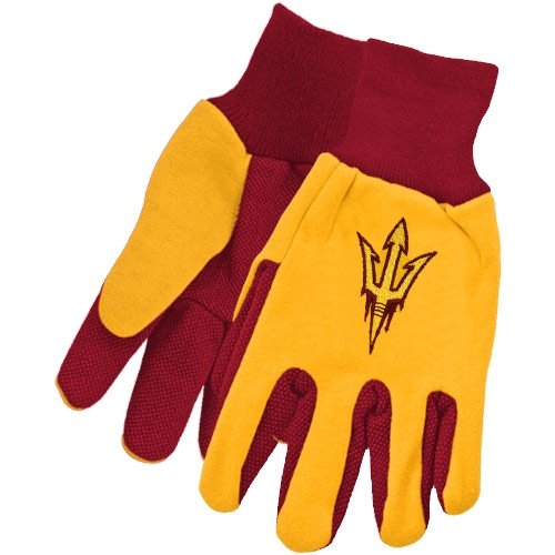 NCAA Arizona State Sun Devils Two-Tone Gloves, Yellow Red by Wincraft