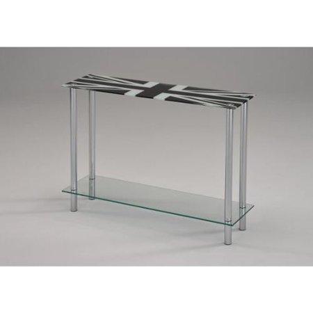 London Printed Glasschrome Console Table Walmartcom