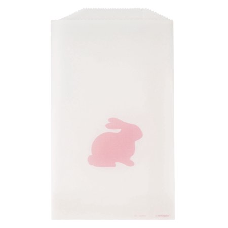 Pink Easter Bunny Glassine Treat Bags, 6.5 x 3.75 in, 8ct](Easter Treat Bags)