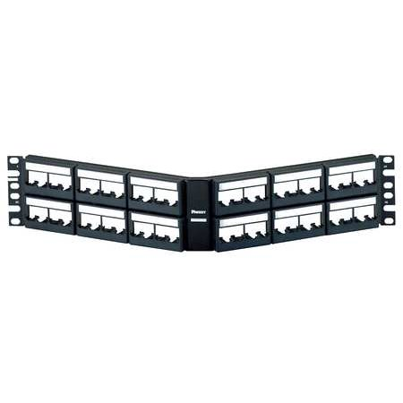 "Panduit MINI-COM Angled Modular Faceplate Patch Panels - Patch panel - 2U - 19""/23"" - 48 ports"