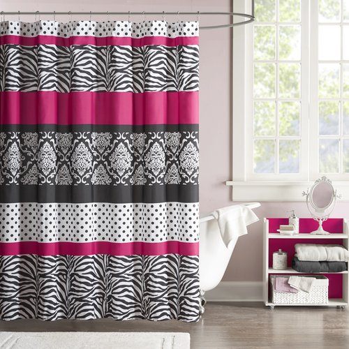 Home Essence Teen Leona Microfiber Shower Curtain