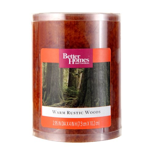 "Better Homes and Gardens 4"" Pillar Candle, Leather"