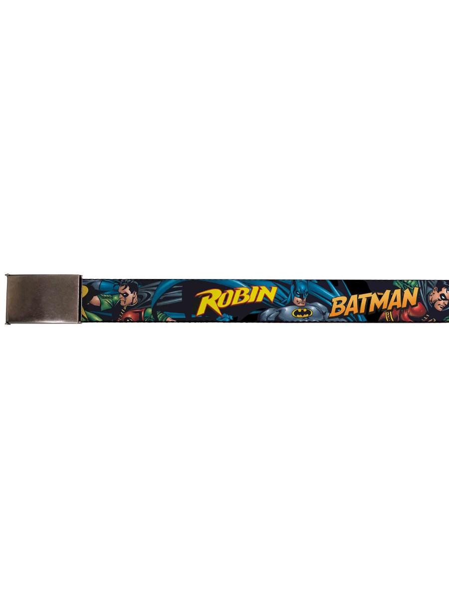 Batman DC Comics Superhero Dynamic Duo Web Belt Chrome