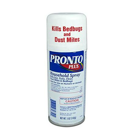 PRONTO PLUS Household Spray Kills Ticks Fleas Dust Mites Bedbugs 5oz Each Anti Dust Mite Spray