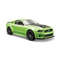 maisto 2014 ford mustang street racer diecast vehicle (1:24 scale), metallic light green
