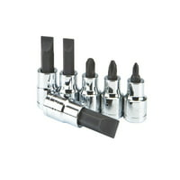 6 Pc 1/2 in. Drive Screwdriver Bit Socket Set