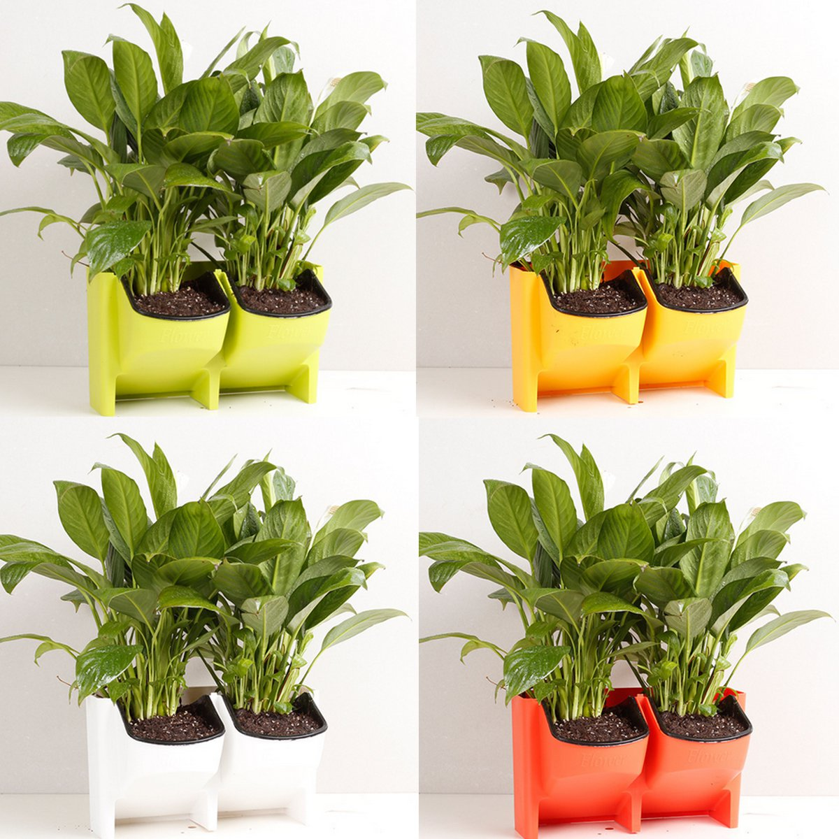 2-Pocket Vertical Gardening Limited Space Wall Stackable Planters for Indoor Outdoor Decoration or Growing Plants