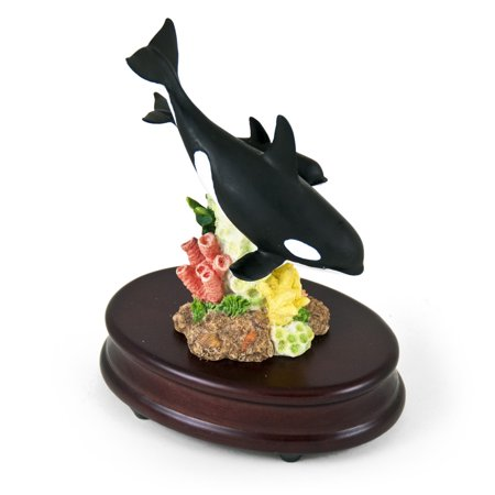 UPC 691011284345 product image for Incredible Mother Killer Whale and Baby Musical Figurine - Mi Chiamano Mimi (La  | upcitemdb.com