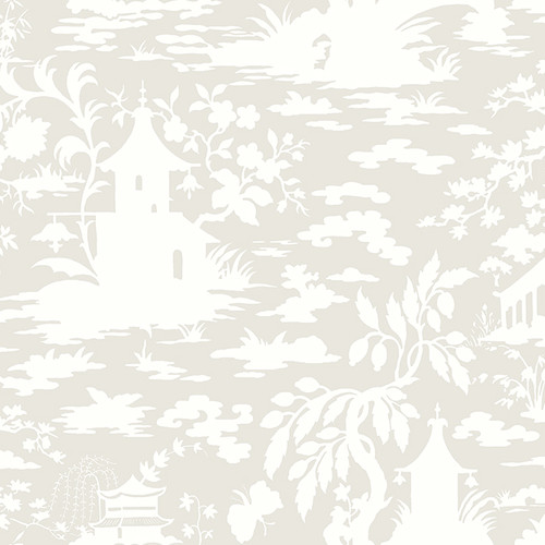 YORK Silhouettes Asian 27' x 27'' Toile 3D Embossed Wallp...