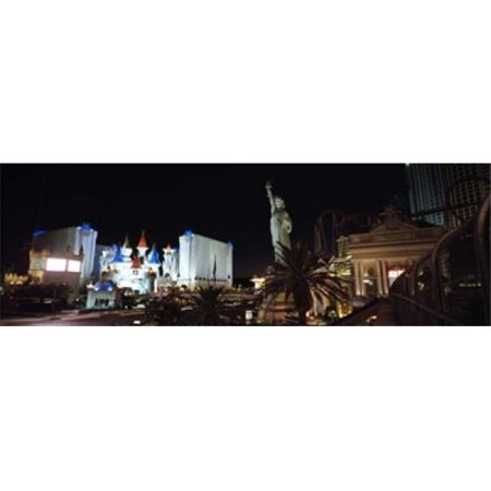 Panoramic Images PPI109552L Statue in front of a hotel  New York New York Hotel  Excalibur Hotel And Casino  The Las Vegas Strip  Las Vegas  Nevada  USA Poster Print by Panoramic Images - 36 x