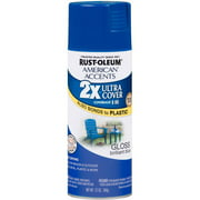 Rust-Oleum American Accents Ultra Cover 2X Brilliant Gloss Spray Paint & Primer, Blue, 12 Oz.