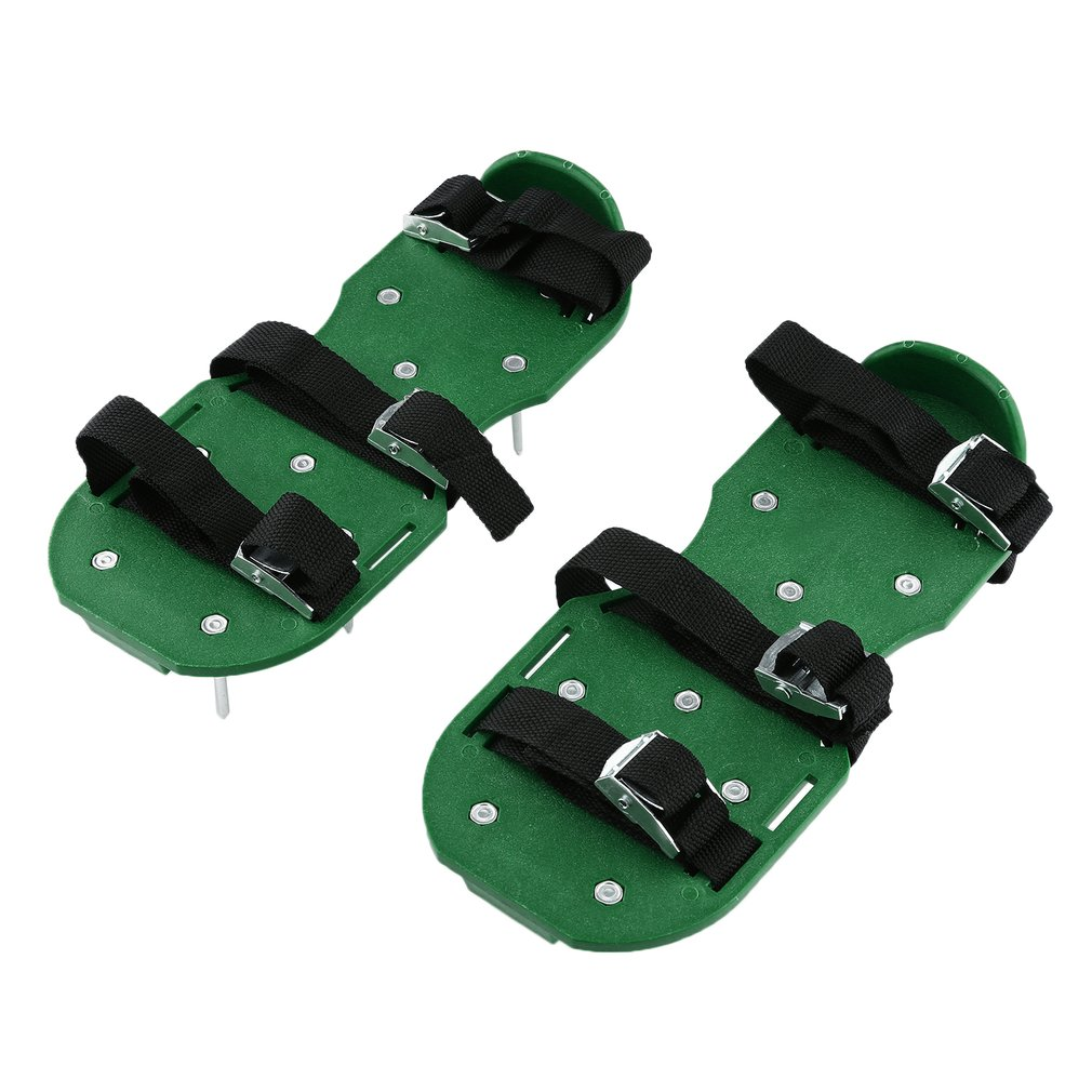 Lawn Spike Shoes Aerator Sandals Lets Air Water In Soil Grass Sod Garden With Metal Buckles for Aerating Lawn or Yard