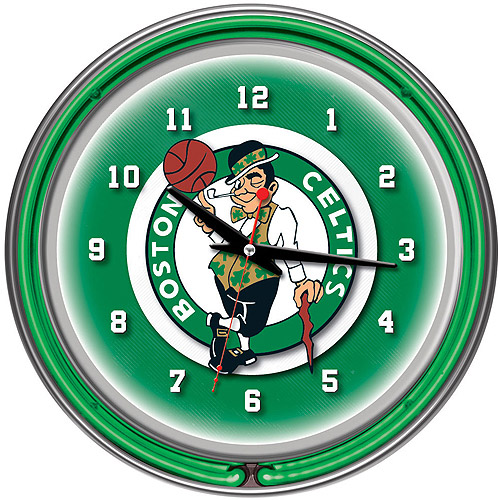 "Boston Celtics NBA 14"" Neon Wall Clock"