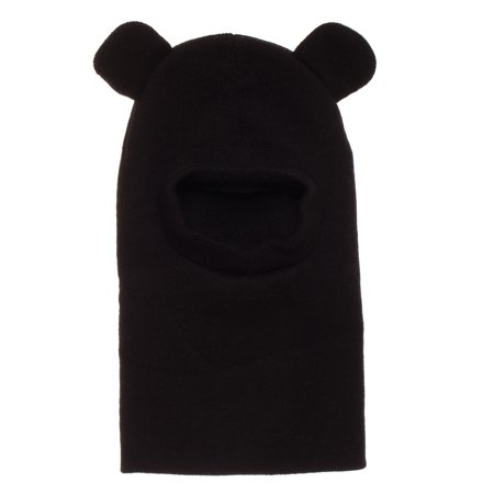 Toddler's Black Bear Balaclava with Ears