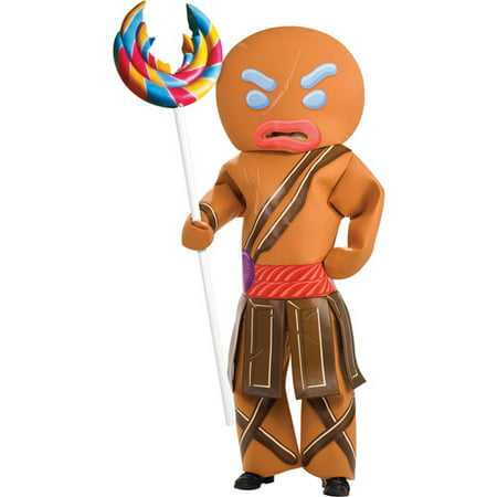 Shrek Gingerbread Warrior Man Adult Halloween Costume](Kids Gingerbread Man Costume)