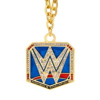 Official WWE Authentic  SmackDown Women's Championship Pendant Gold/Red