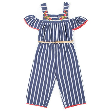 Striped Jumpsuit (Baby Girls & Toddler Girls)](Toddler Jumpsuit)