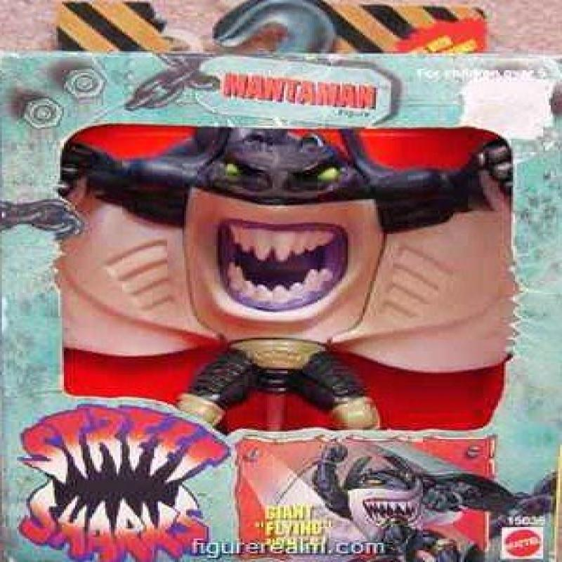 Mattel Street Sharks Mantaman Figure by
