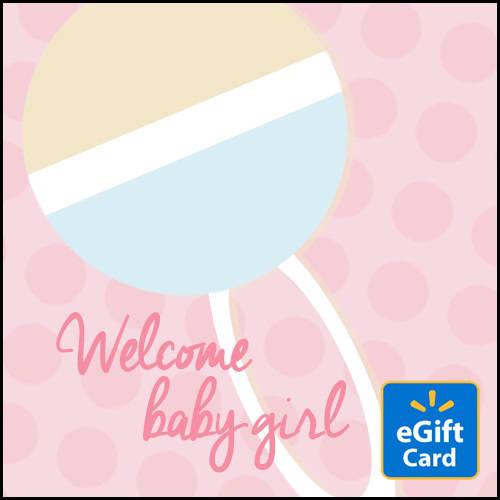 Welcome Baby Girl Walmart eGift Card