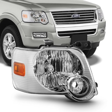 Fits 2006 2007 2008 2009 2010 Ford Explorer Passenger Side Headlights Headlamps