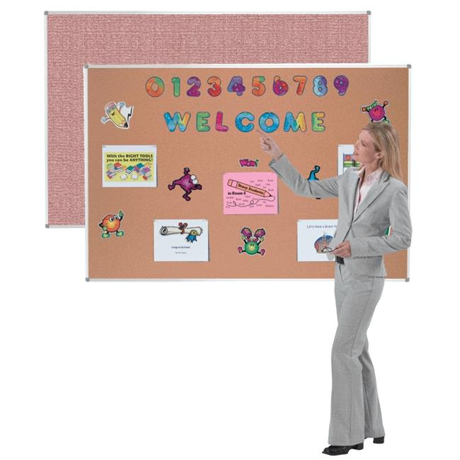 Aarco Products ERV2436802 Radius Corner Aluminum Frame Cappuccino Vinyl Bulletin Board, Cappuccino - 24 x 36 in.