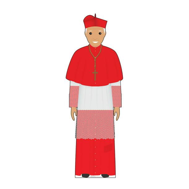 Lifesize Pope Red Outfit Illustrated Cardboard Cutout Standup Walmart Com Walmart Com
