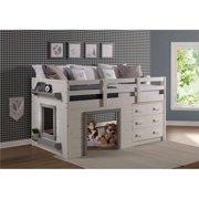 Donco Kids PD-1830TLWG Sweet Dreams Low Loft, White & Grey