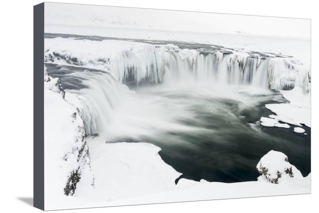 Godafoss Waterfall in Iceland Canvas Wall Art Picture Print
