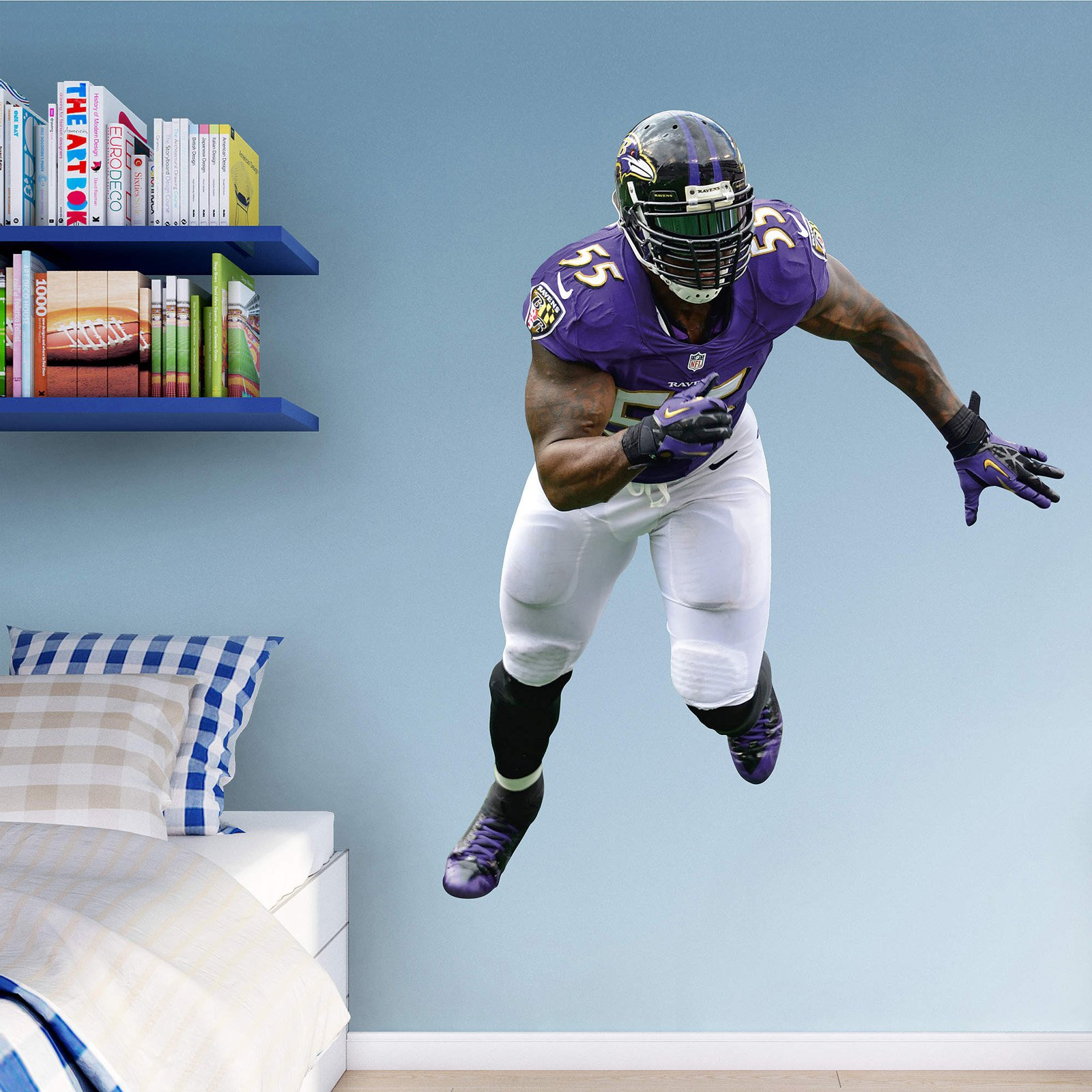 Fathead NFL Baltimore Ravens Terrell Suggs Wall Decal & Fathead NFL Baltimore Ravens Terrell Suggs Wall Decal - Walmart.com